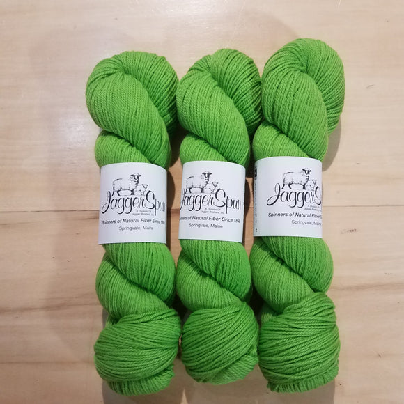 The Green Line From JaggerSpun: Lime - Maine Yarn & Fiber Supply