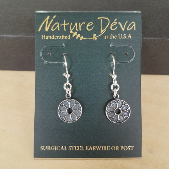 Lotus Flower earrings by Nature Deva Jewelry
