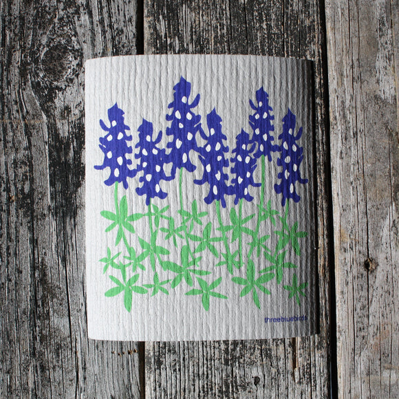Lupines - Swedish Dish Cloths by Three Blue Birds