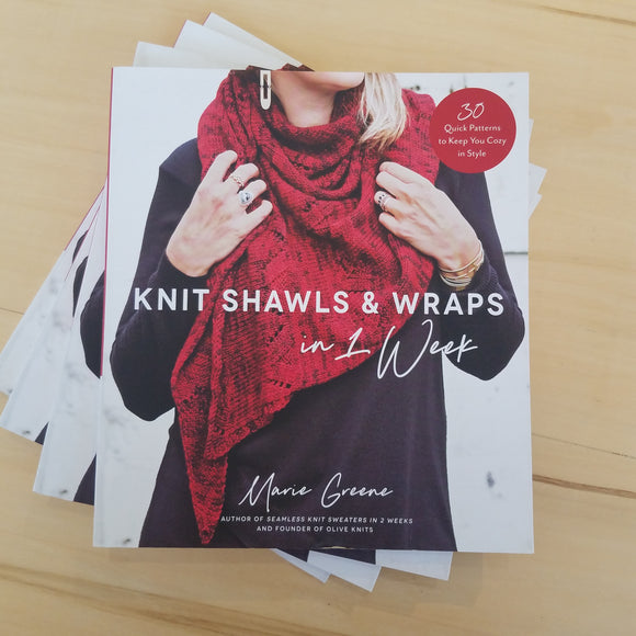 Knit Shawls & Wraps in 1 Week by Marie Greene - Maine Yarn & Fiber Supply