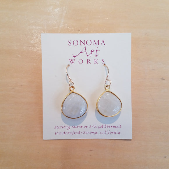 Moonstone with Gold Vermeil drop earrings by Sonoma Art Works