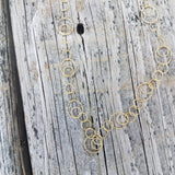Gold Vermeil Multi Circle necklace in 24in