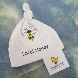 "Organic Cotton Baby Hat ""Local Honey"" from Simply Chickie"