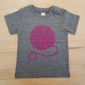 Pink Yarn Ball Baby Tee by Madder Root