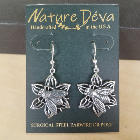 Pollination earrings by Nature Deva Jewelry