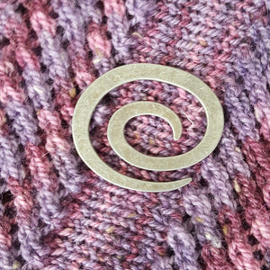 maine-yarn-fiber-supply - Silver Swirl Shawl Pin - Tools/Accessories