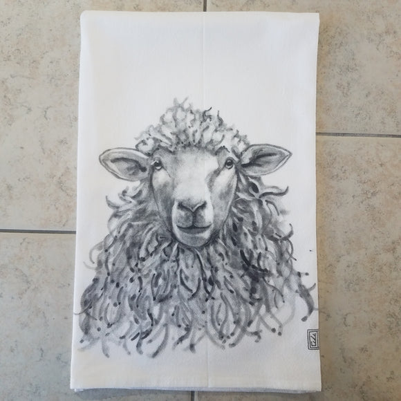 Sheep Flour Sack Towel by Jennie Blue