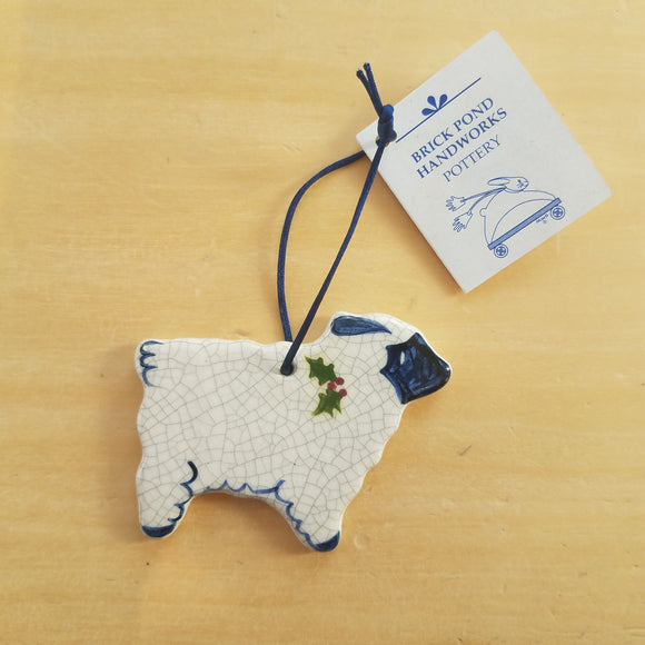 Sheep Ornament by Brick Pond Handworks