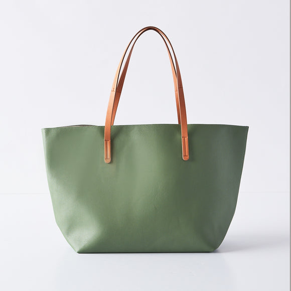 Essential Vegan Leather Tote in Fern by Boon Supply