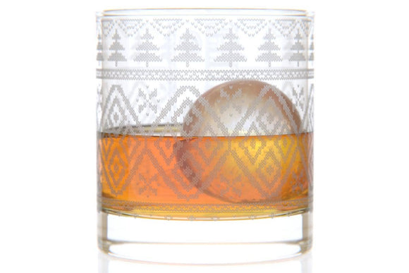 Holiday Sweater Bourbon Glass by Well Told