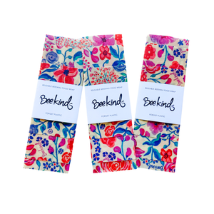 Tropics Beeswax Wraps - Set of 3 by Bee Kind
