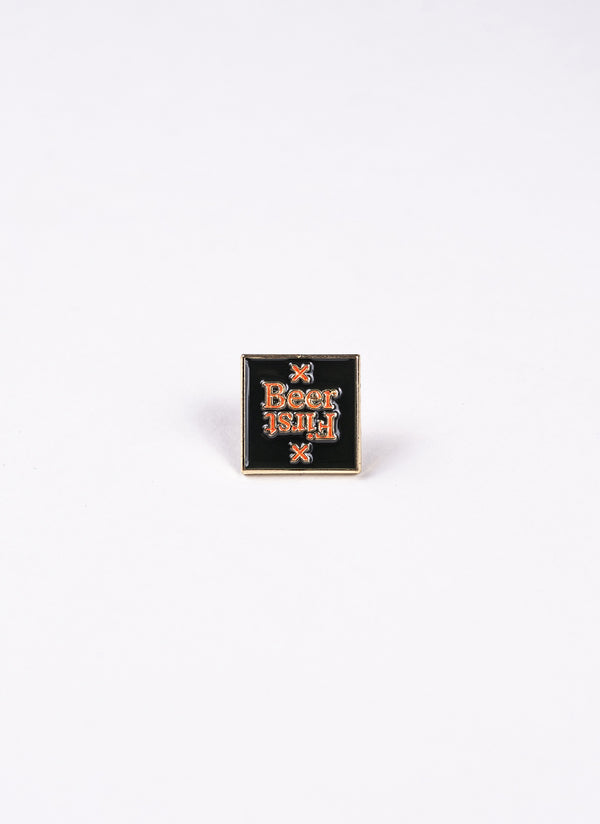 Beer First Enamel Pin - Lucky Lager