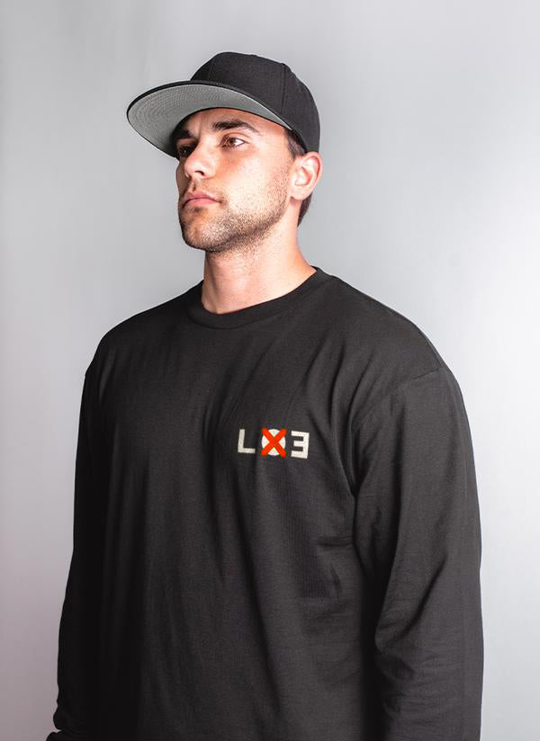 LOE Long Sleeve Tee - Black - Lucky Lager