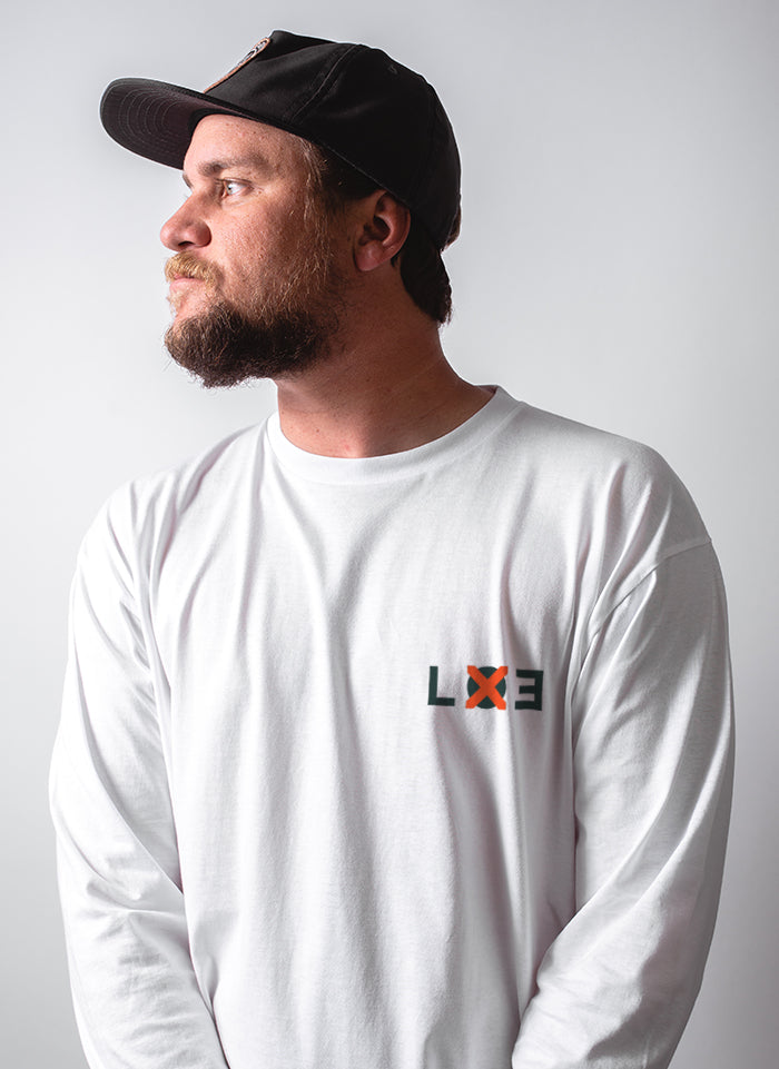 LOE Long Sleeve Tee - White - Lucky Lager