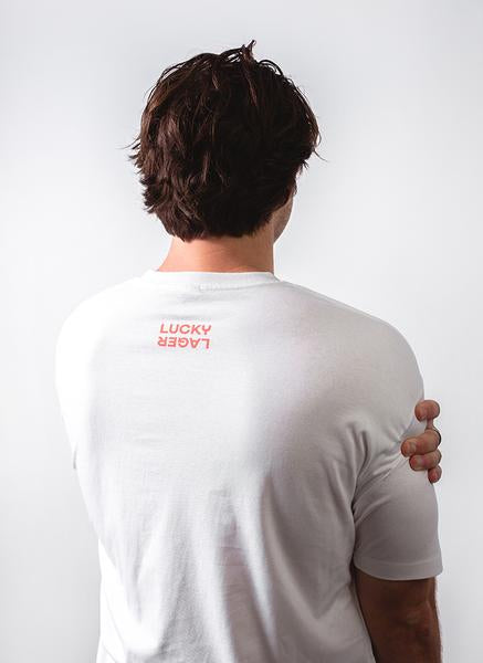 Local Block Tee - White - Lucky Lager