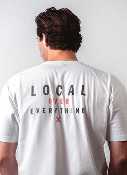 Locals Tee - White - Lucky Lager