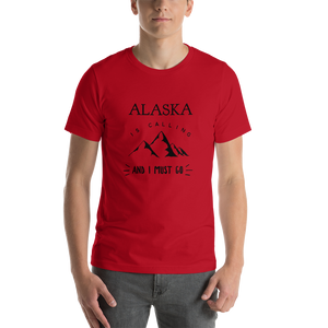 Men's Short-Sleeve T-Shirt - Alaska is Calling