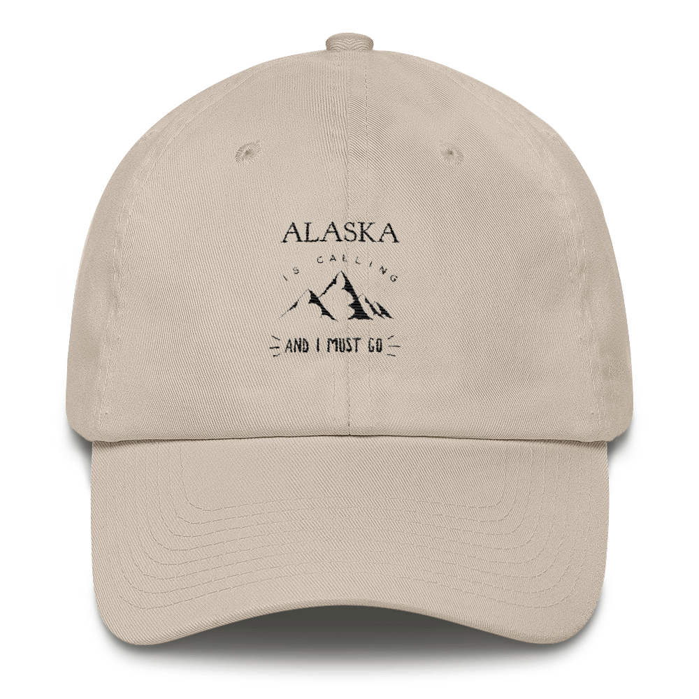 100% Cotton Cap - Alaska is Calling - Black