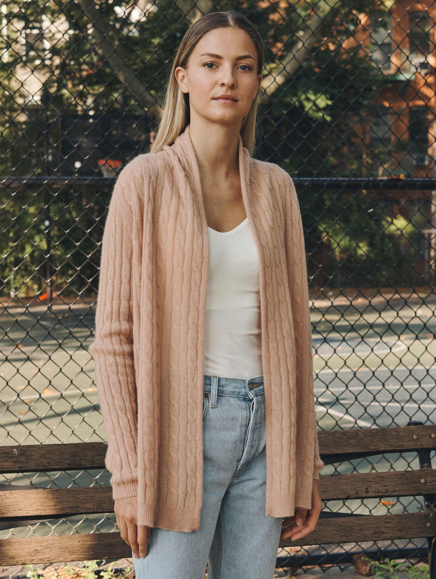 Cashmere Cable Cardigan