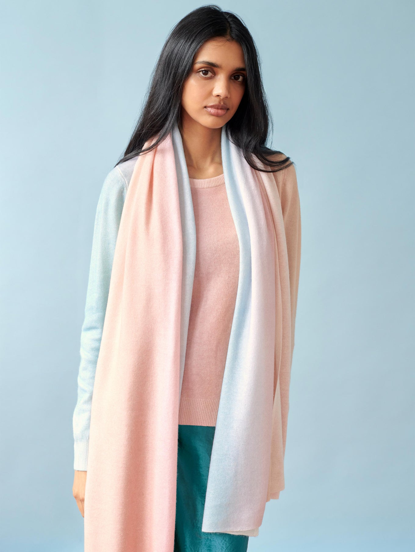 Mini Cashmere Ombré Travel Wrap