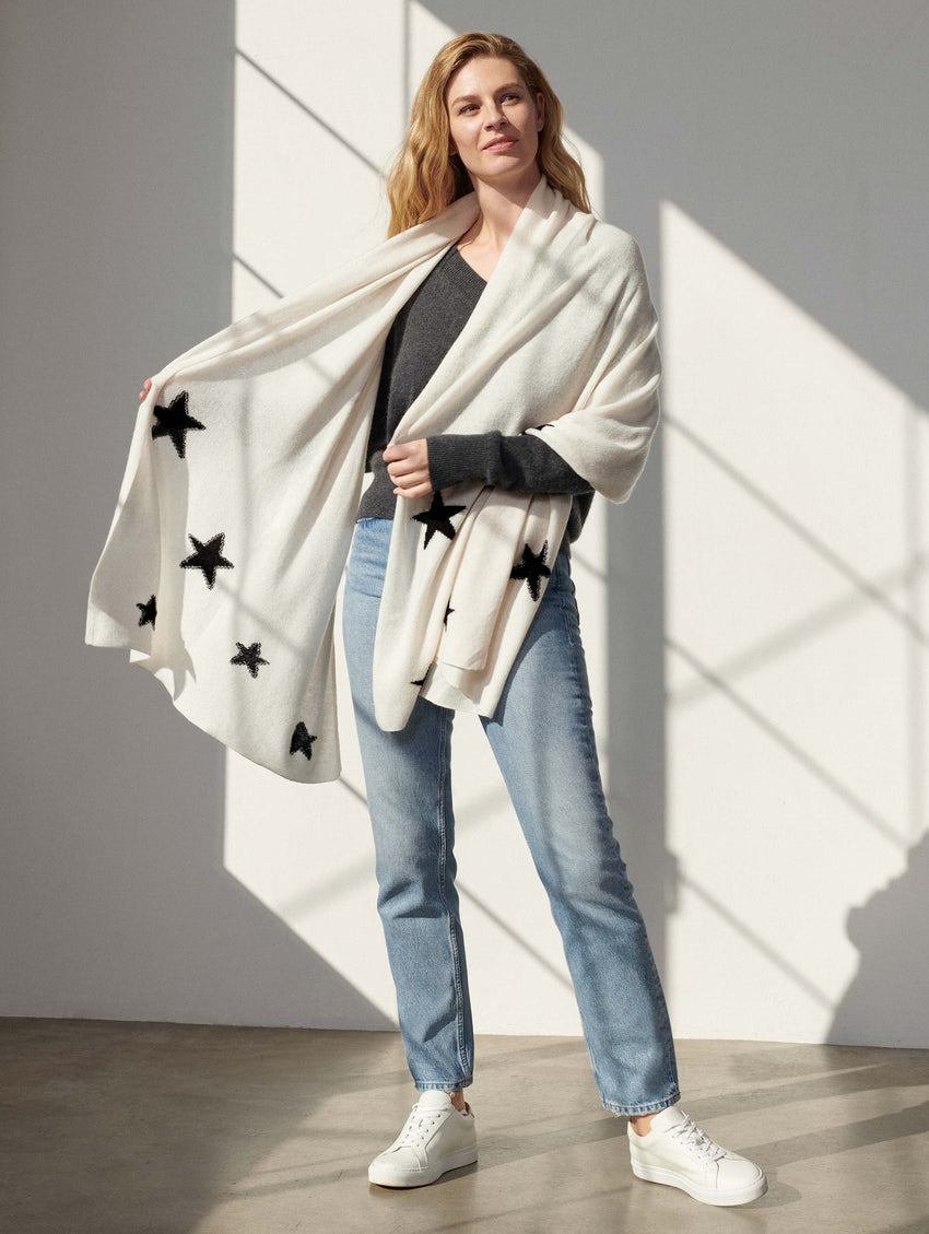 Star Mini Cashmere Travel Wrap