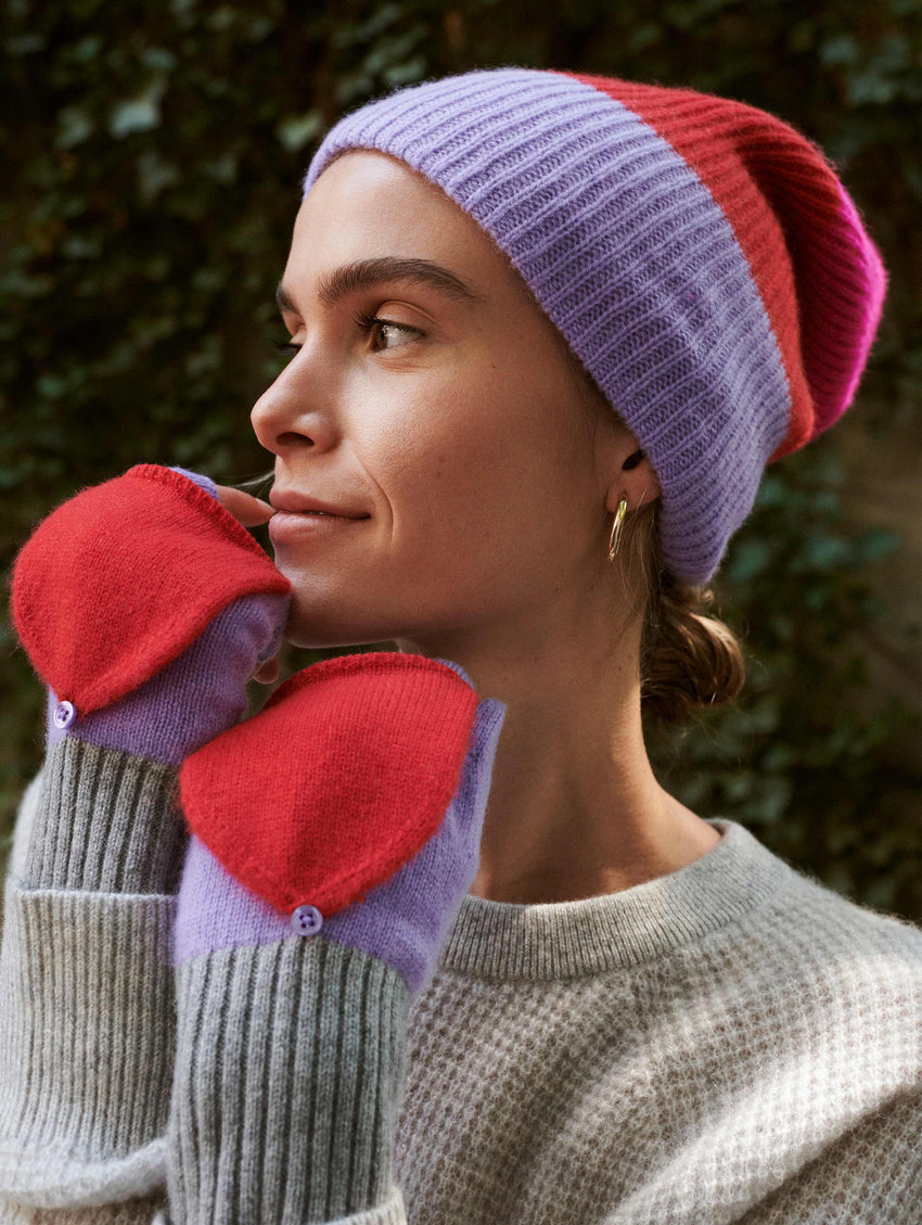 Cashmere Colorblock Pop Top Glove