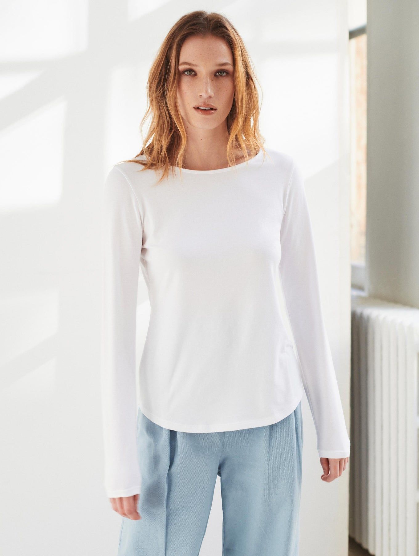 Cotton Modal Boatneck Tee