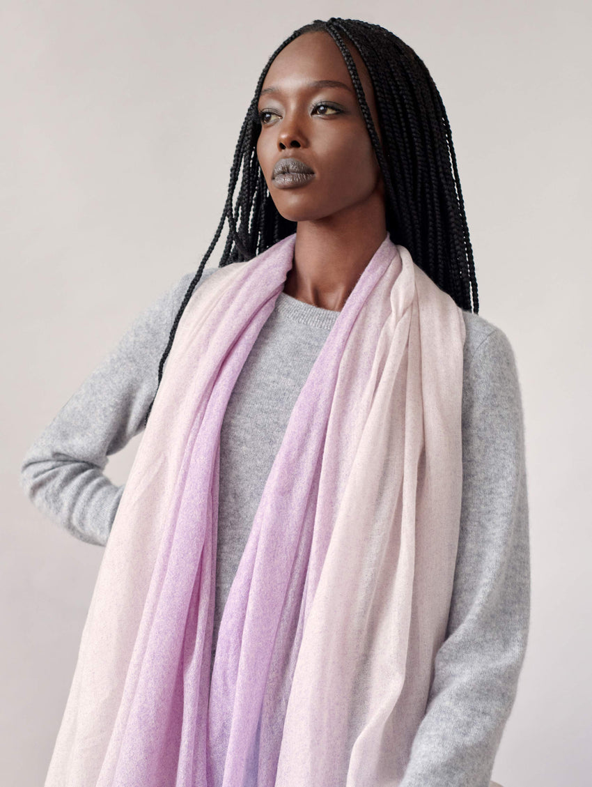 Cashmere Spray Dyed Woven Scarf