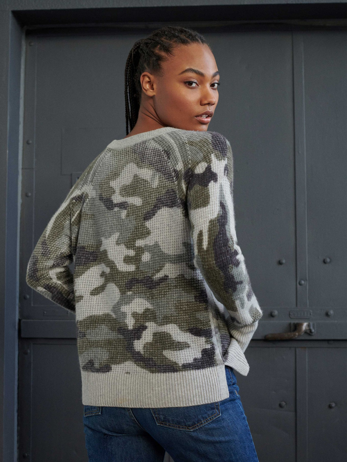 Cashmere Camo Thermal Sweatshirt