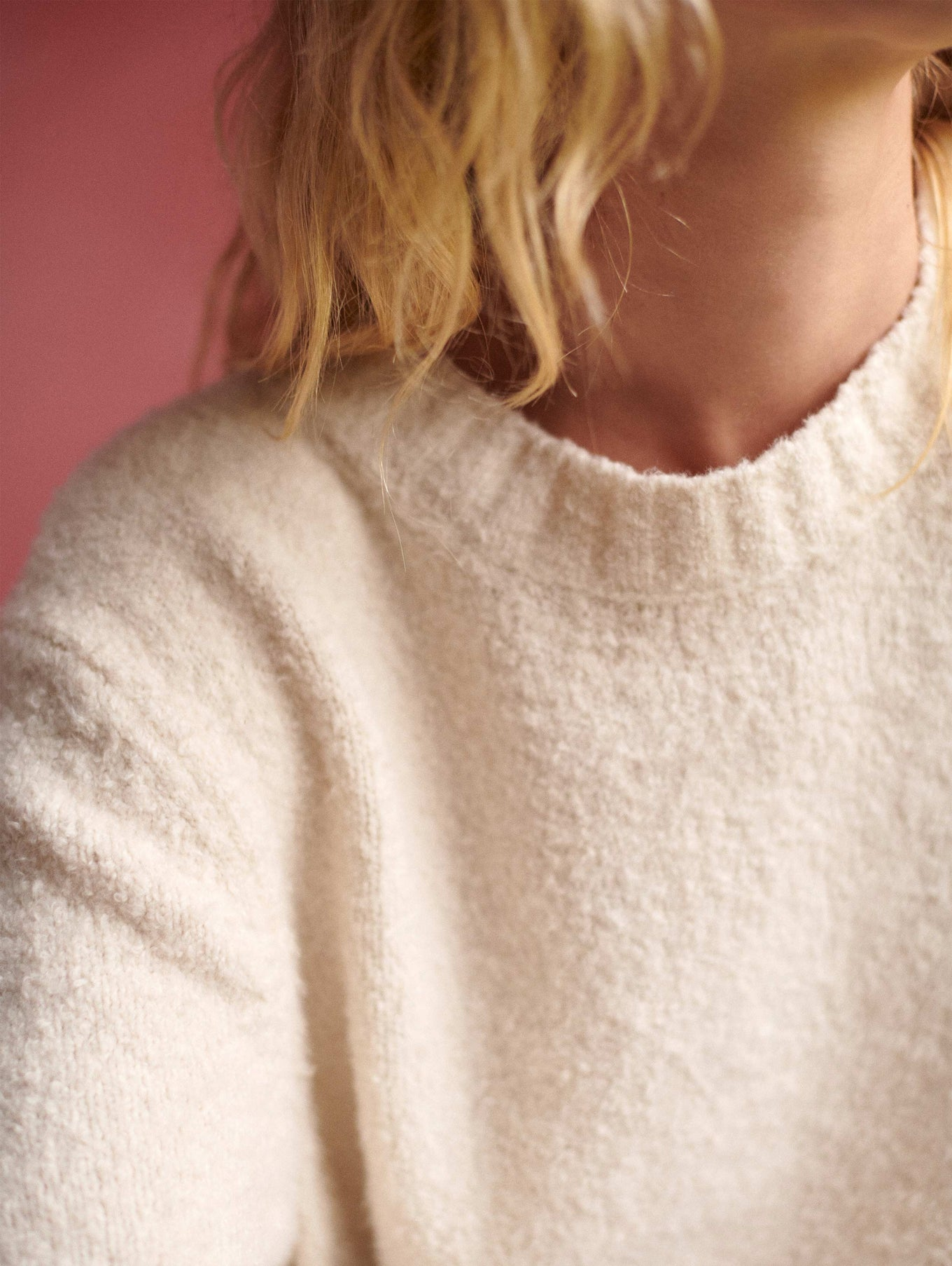 Organic Cotton Boucle Crewneck