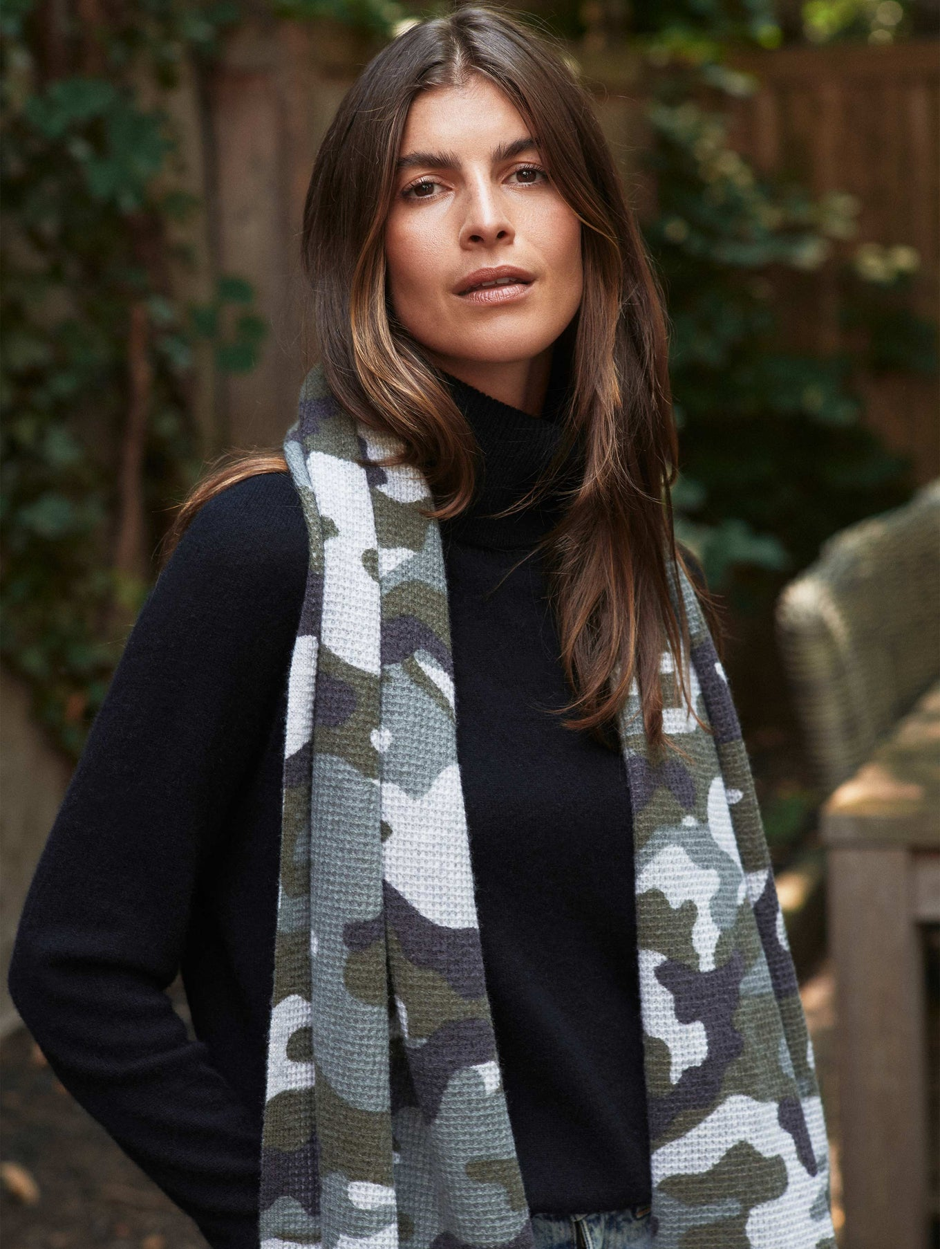 Cashmere Camo Thermal Scarf