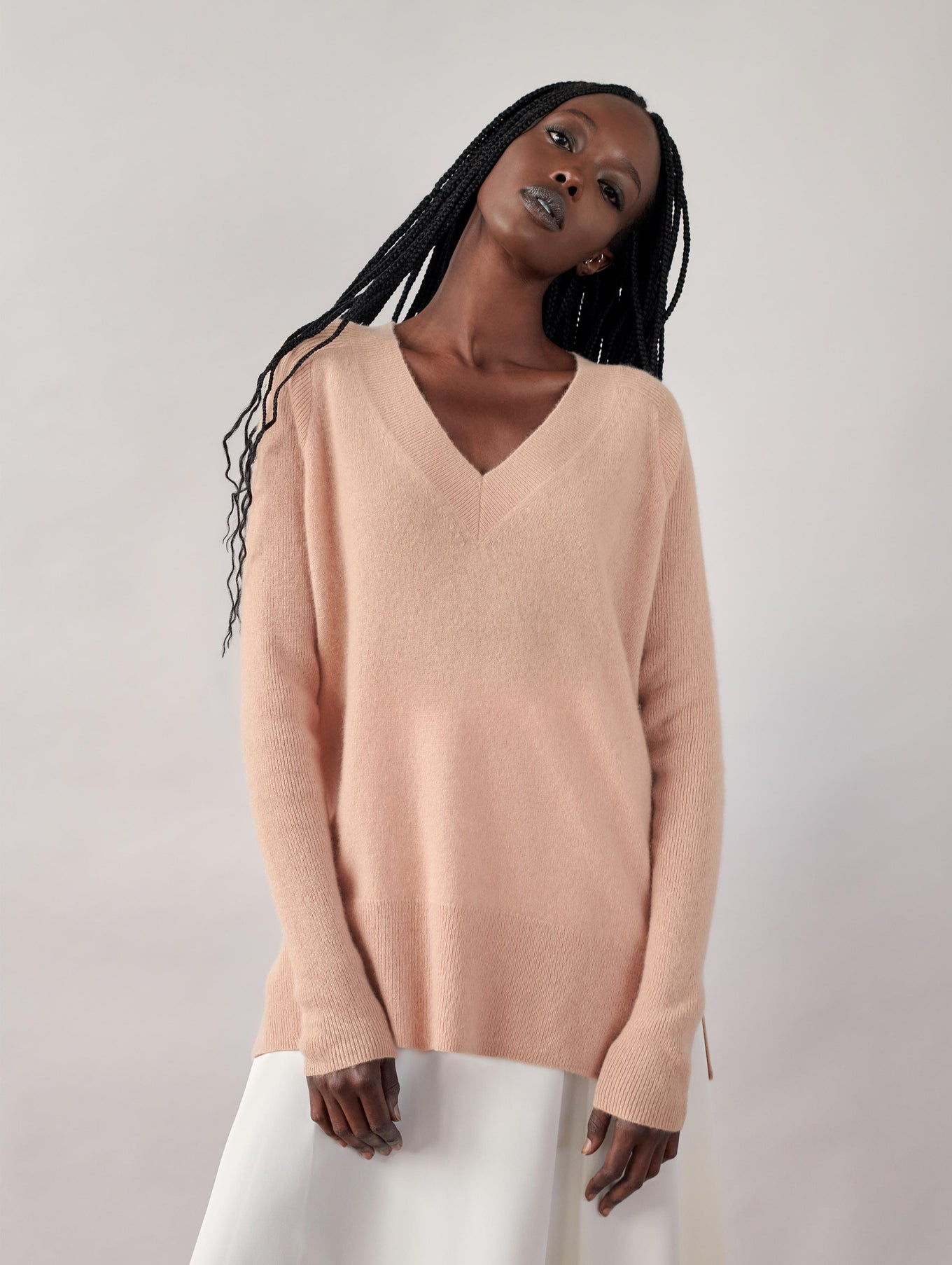 Cashmere V Neck Tunic