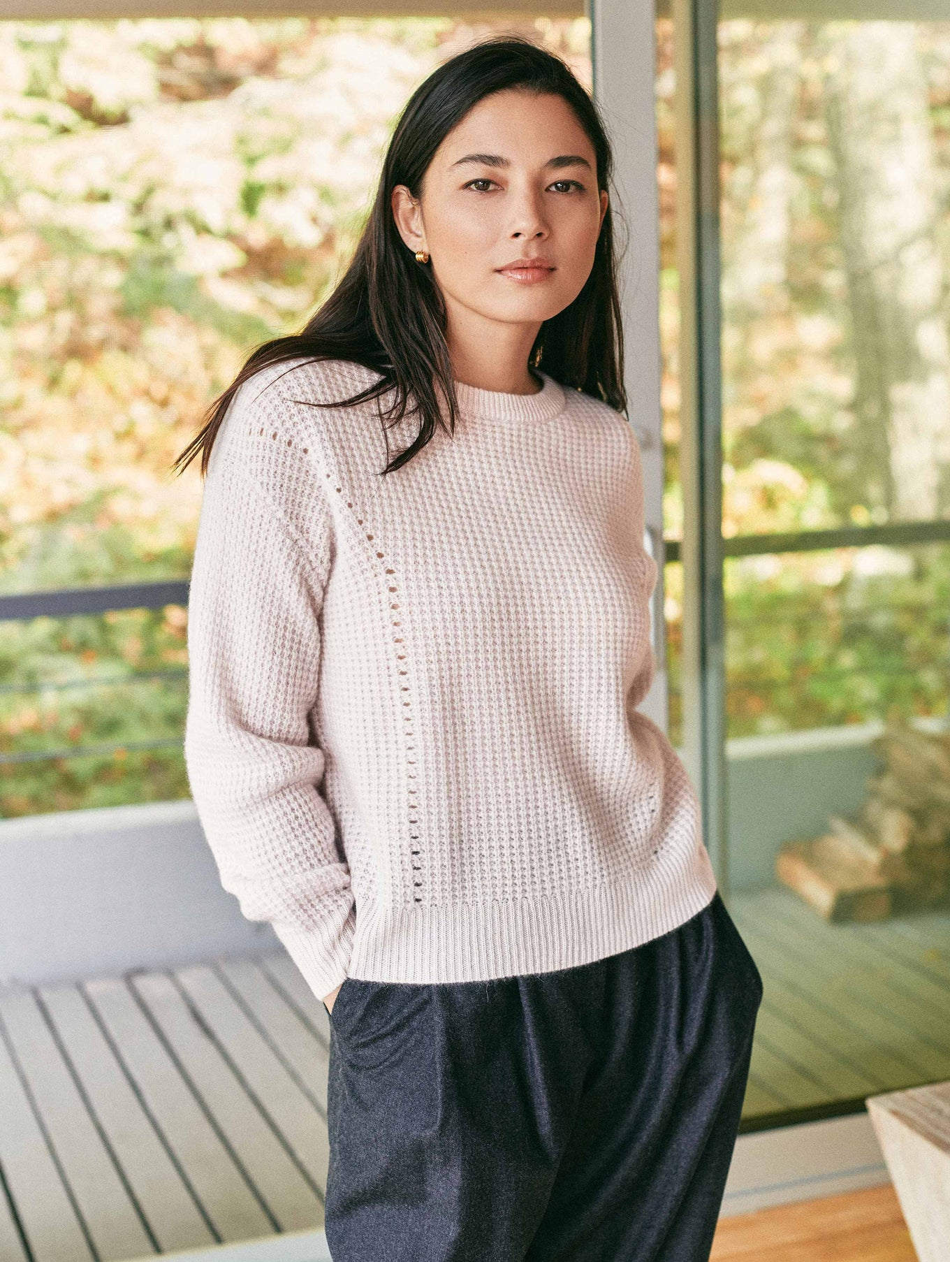 Luxe Cashmere Thermal Crewneck