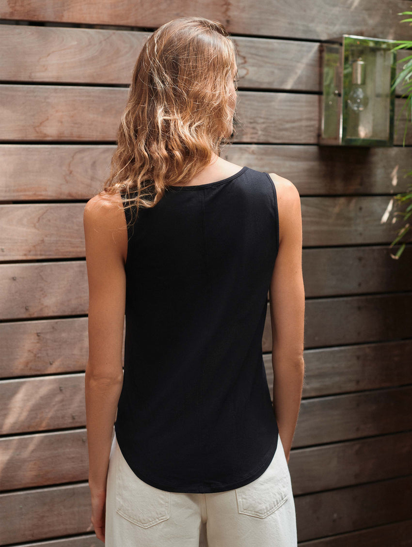 Modal Cotton Scoopneck Tank