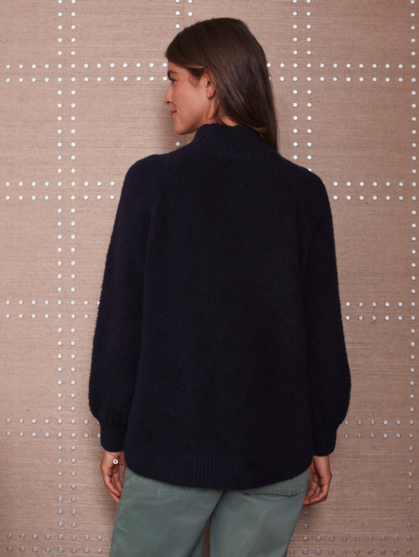Organic Cotton Boucle Standneck