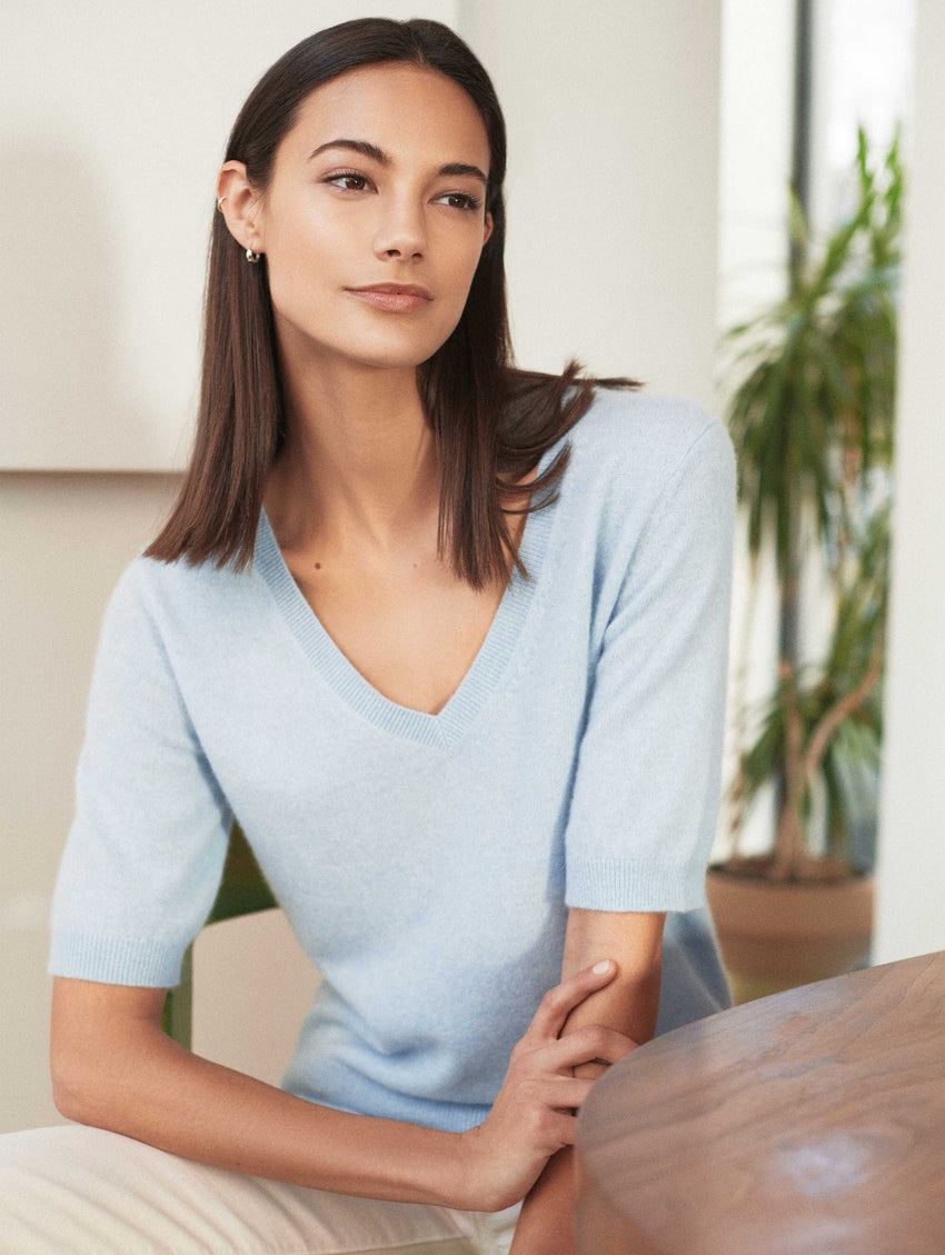 Essential Cashmere Elbow Sleeve Tee