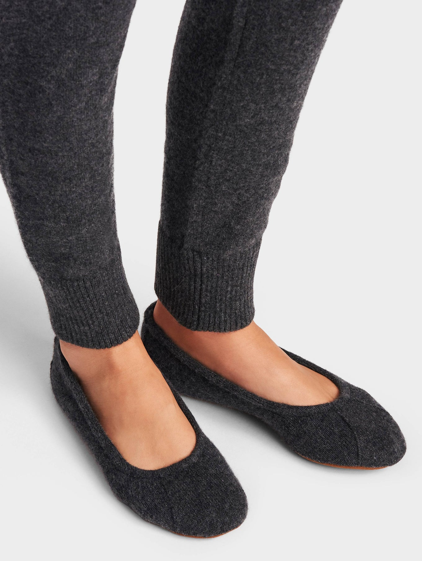 Cashmere Ballet Slipper - Charcoal Heather - Image 1