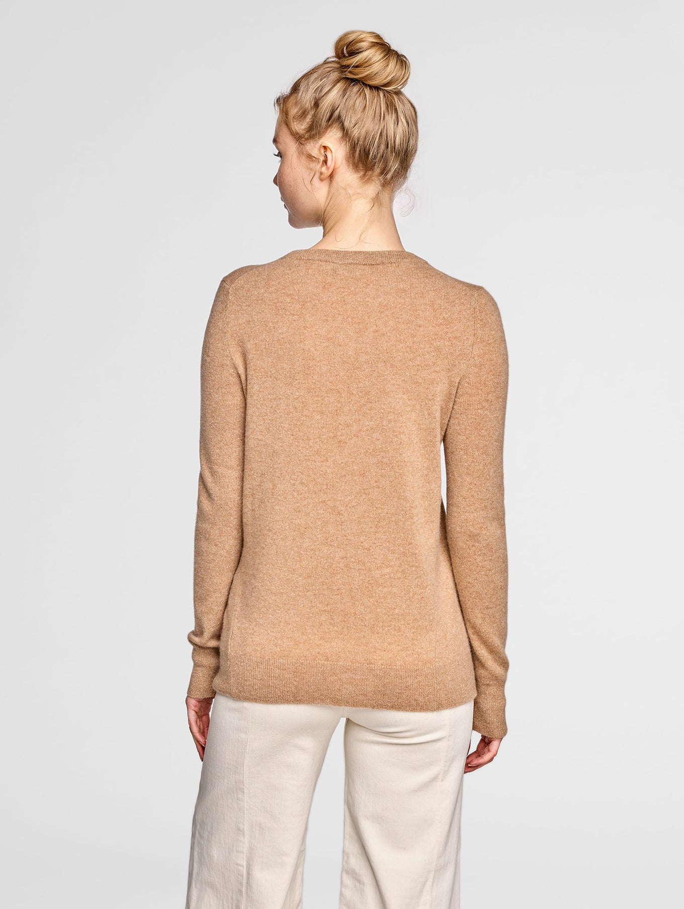 Essential Cashmere Crewneck - Camel Heather - Image 3