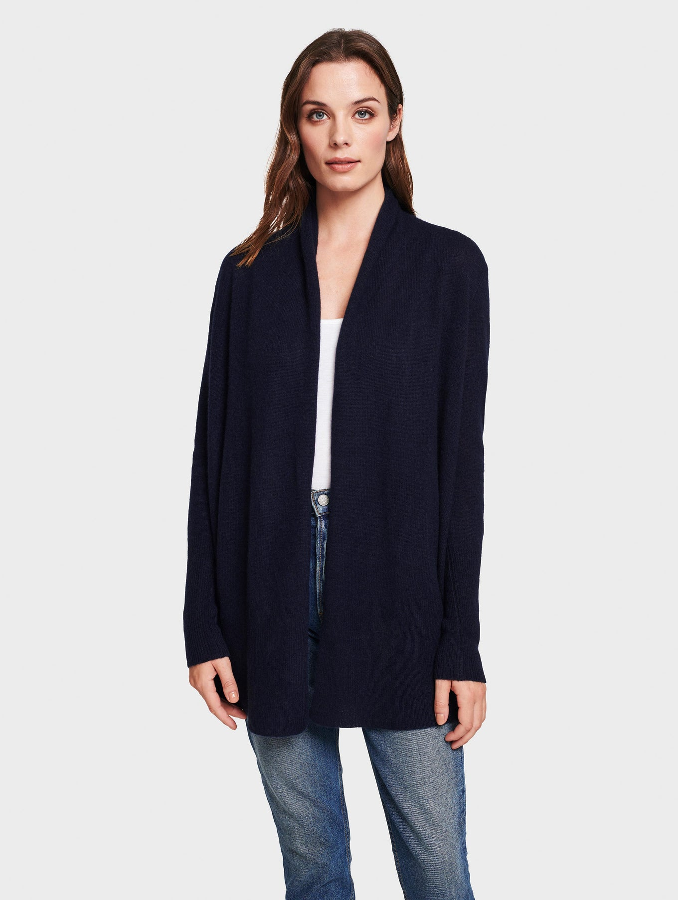 Cashmere High Rib Cardigan