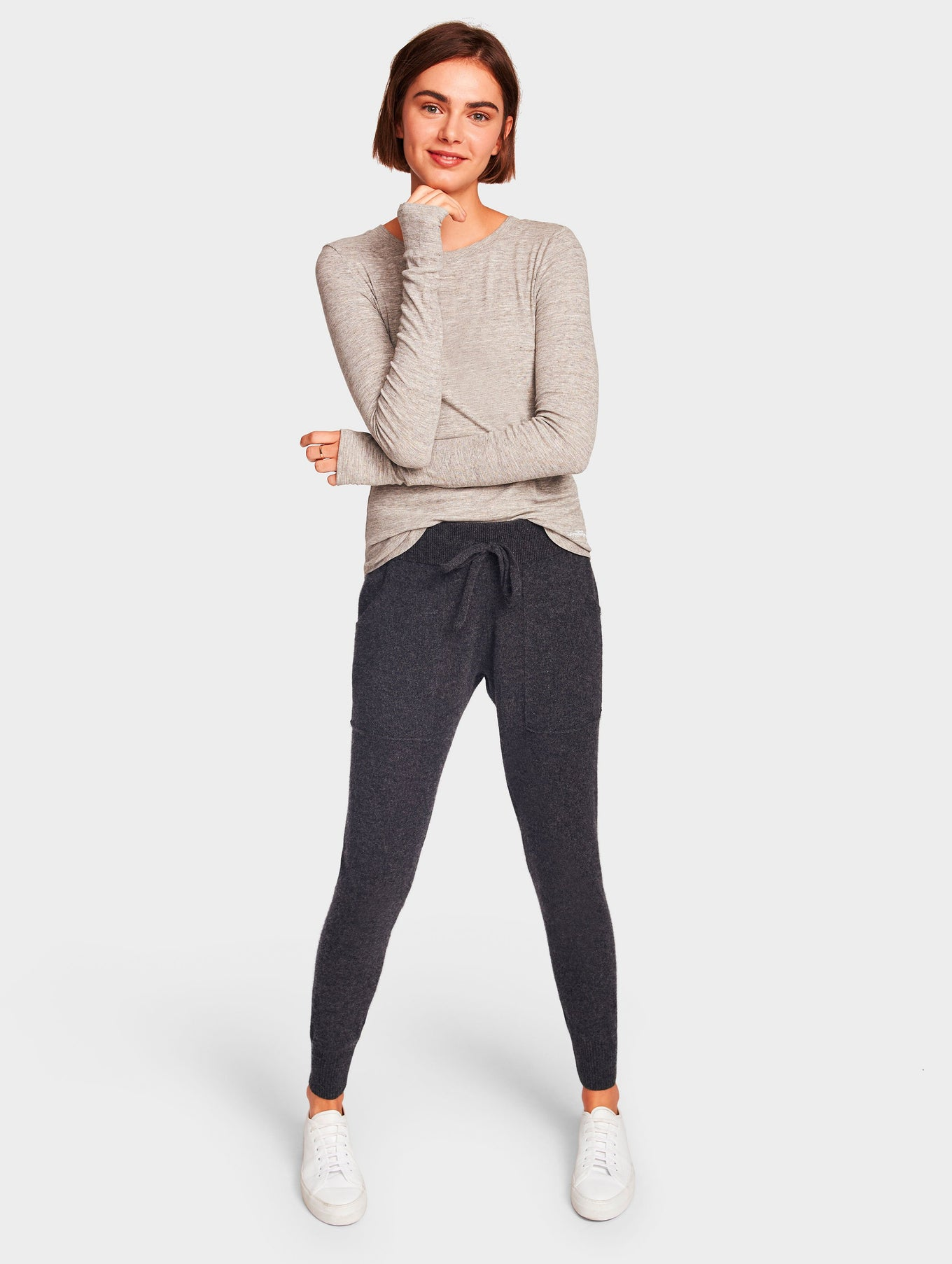 Cashmere Lounge Pant - Charcoal Heather - Image 1