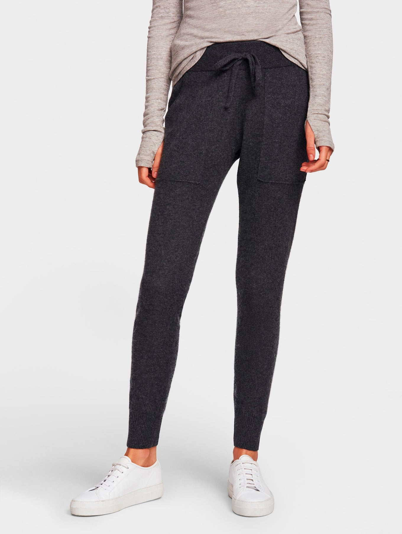 Cashmere Lounge Pant - Charcoal Heather - Image 2