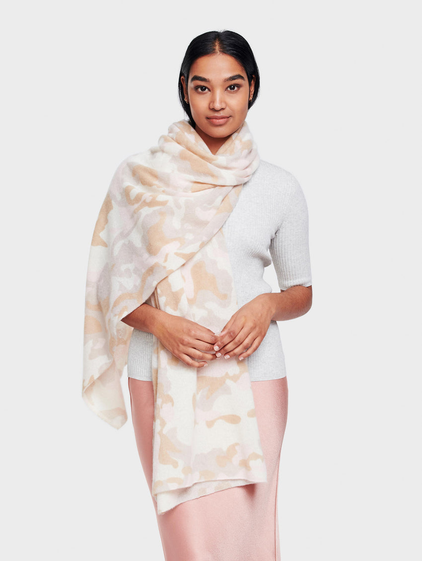 Camo Mini Cashmere Travel Wrap