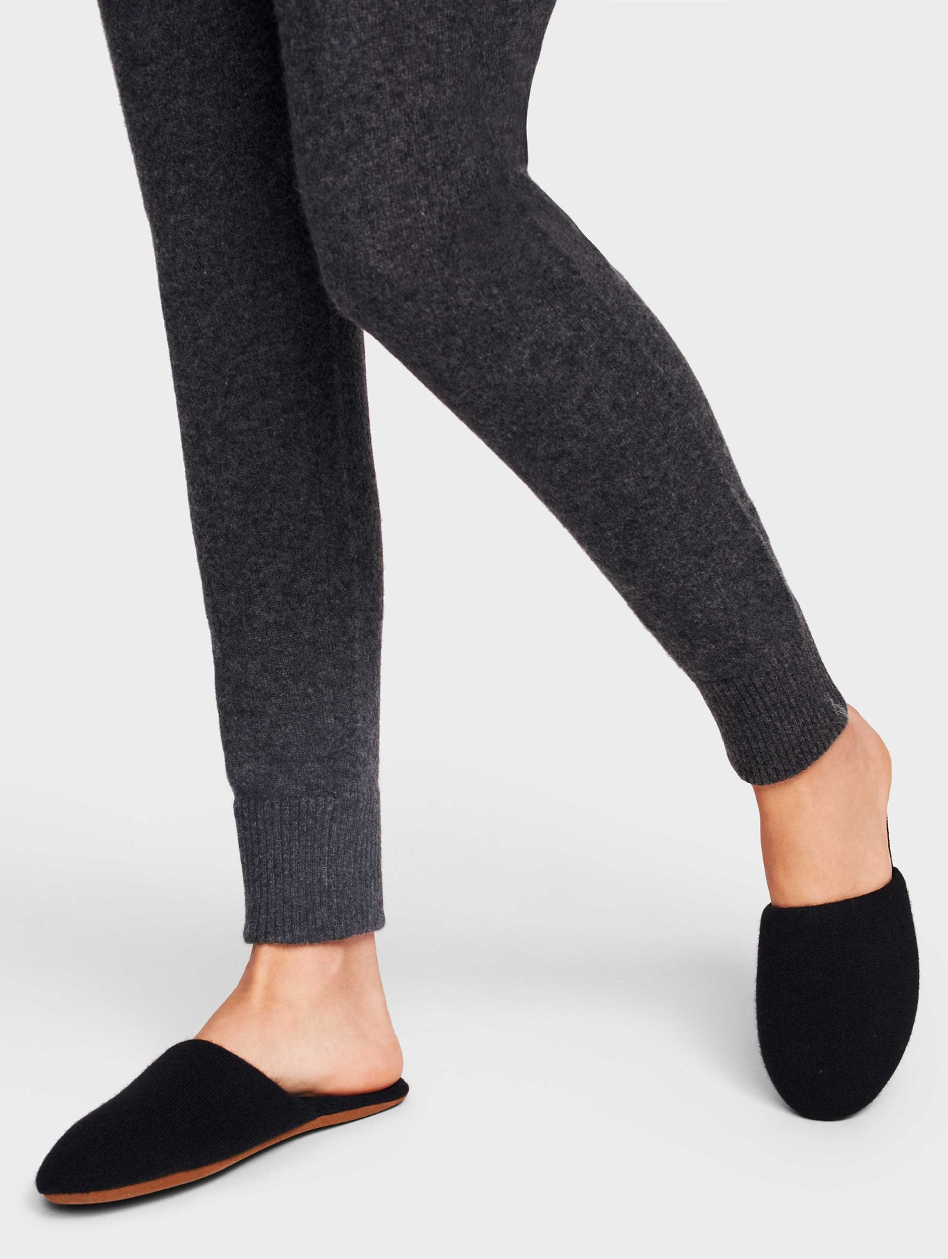 Cashmere Slide Slipper - Black - Image 1