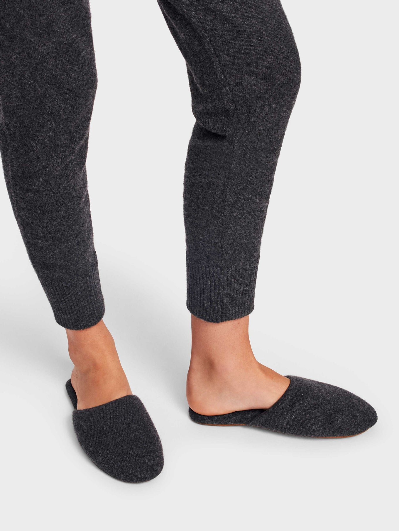 Cashmere Slide Slipper - Charcoal Heather - Image 1