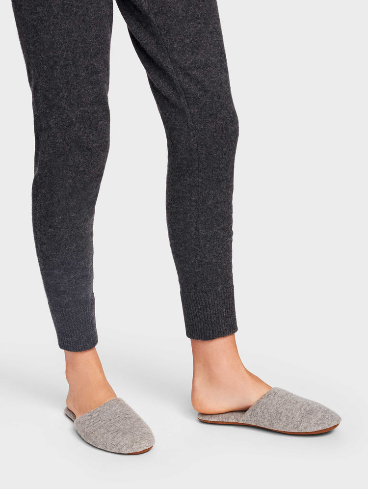 Cashmere Slide Slipper - Grey Heather - Image 1