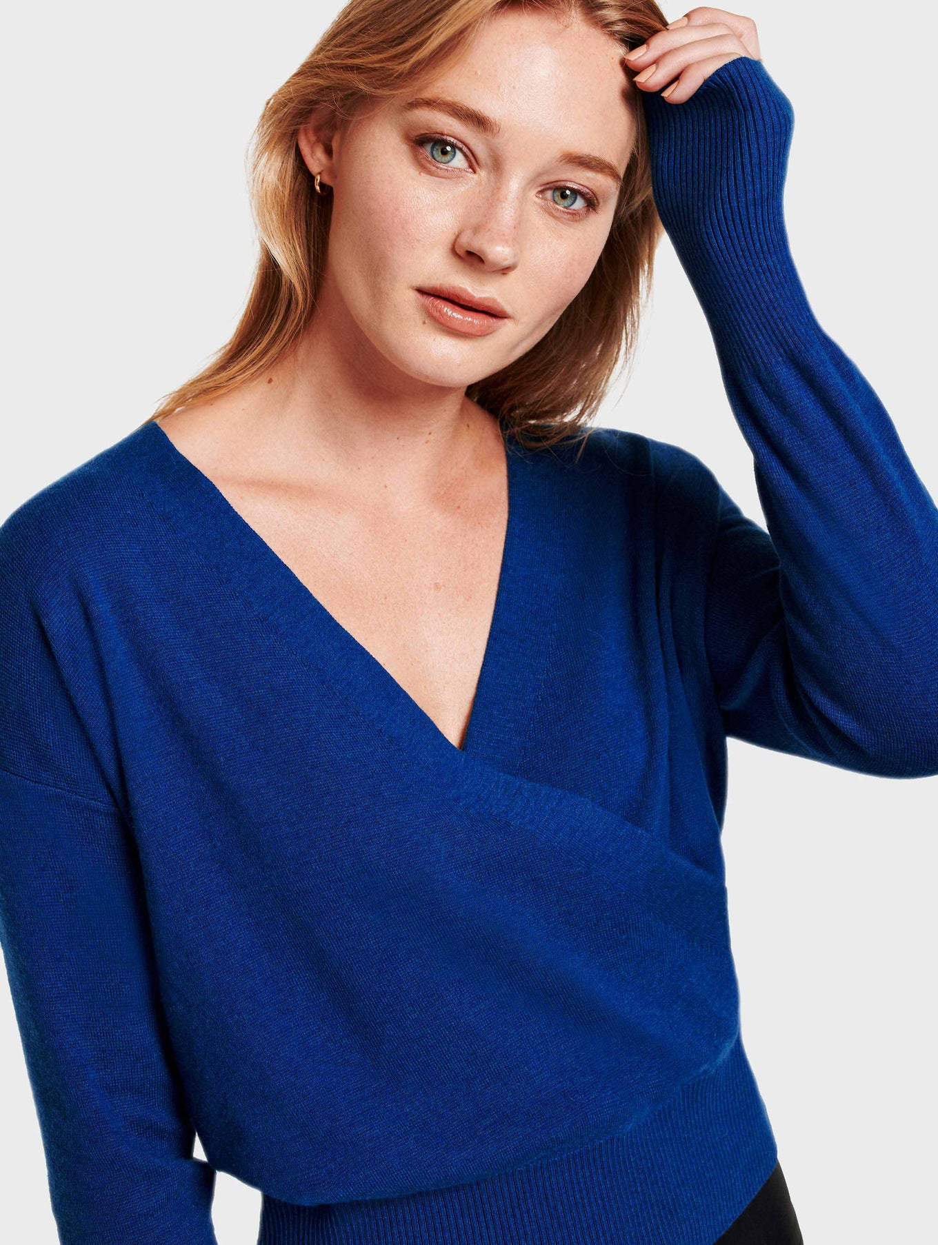 Faux Wrap Pullover - Nightfall Heather - Image 1