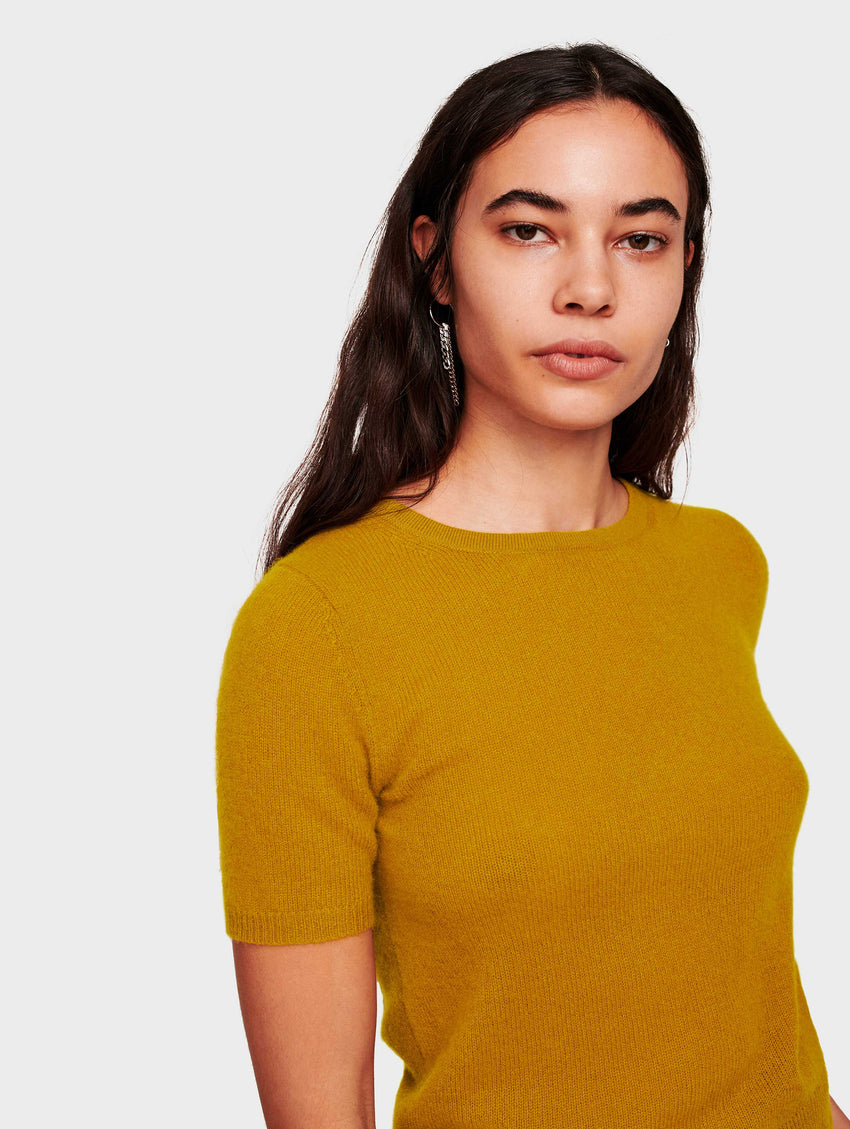 Cashmere Fitted Tee - Antique Gold - Image 1