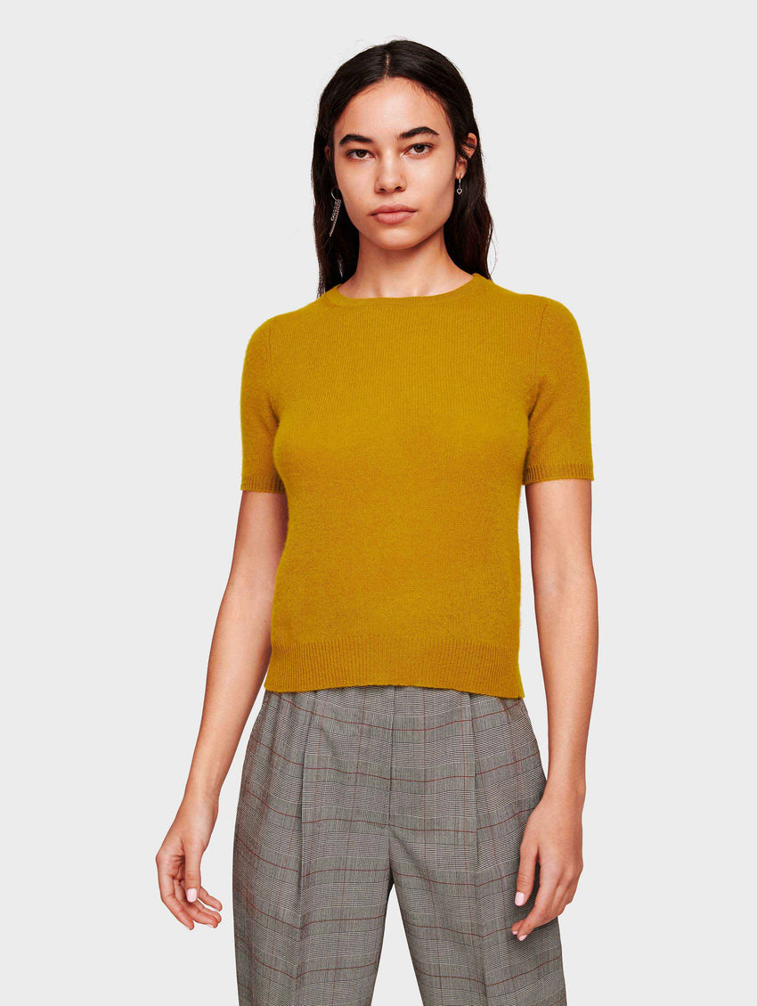 Cashmere Fitted Tee - Antique Gold - Image 2