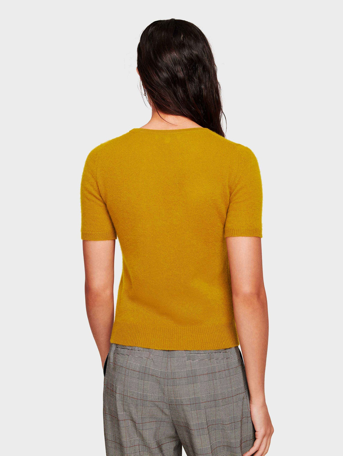 Cashmere Fitted Tee - Antique Gold - Image 3