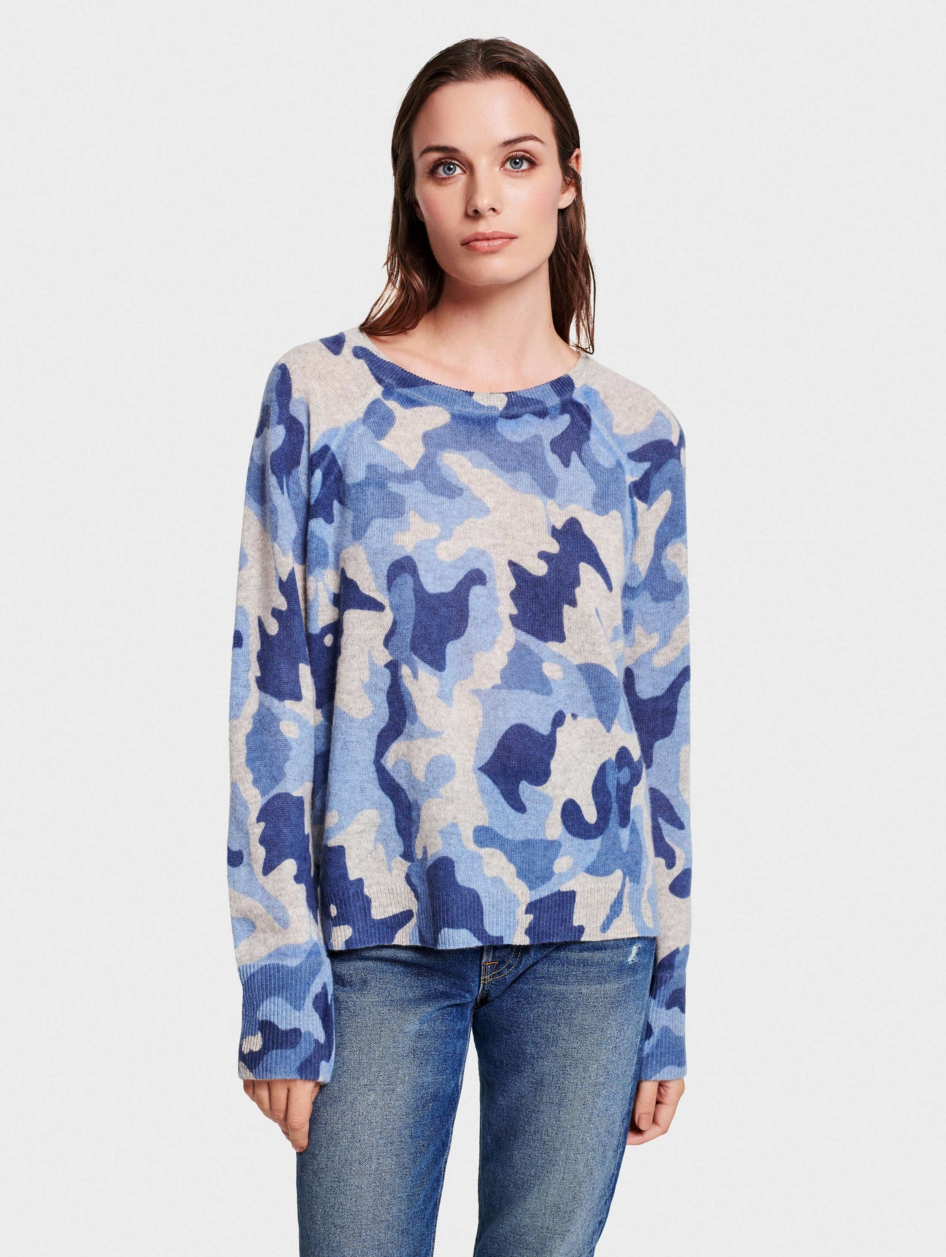 Camo Essential Cashmere Sweatshirt for Women